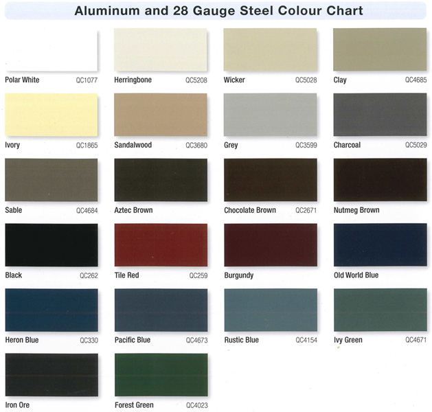 Metal Roofing Siding Color Chart Bing Images